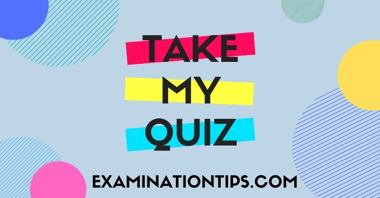 Take My Quiz